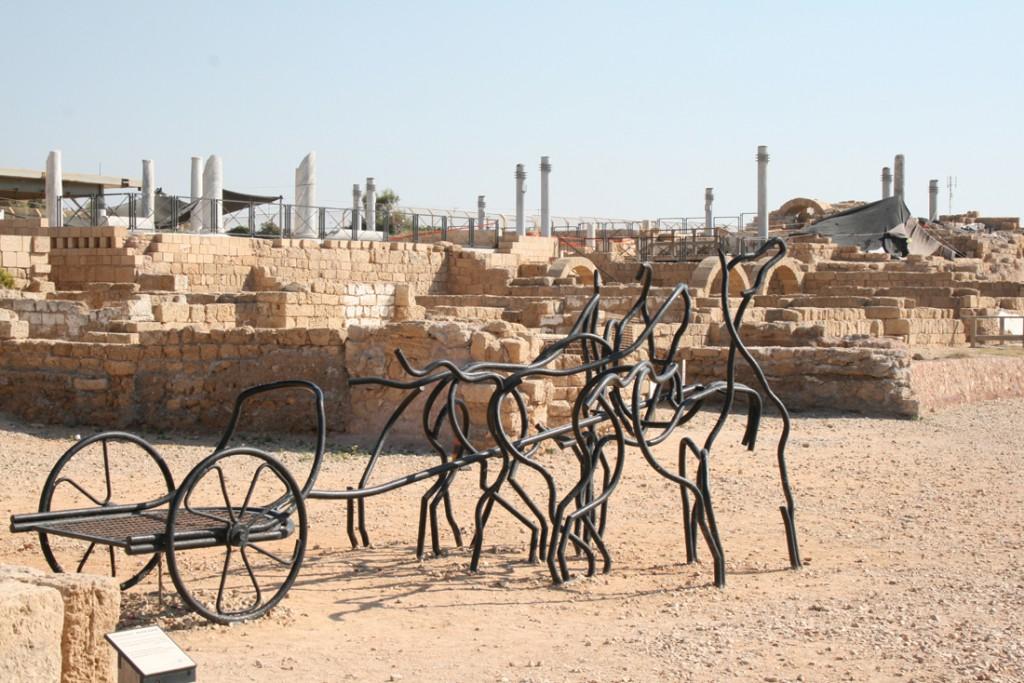 Pferderennen im Hippodrom Caesarea
