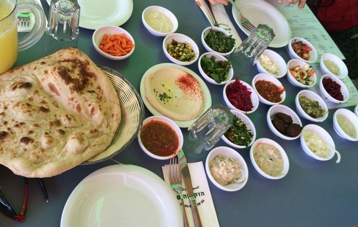 Arabische Vorspeisen in Jaffa