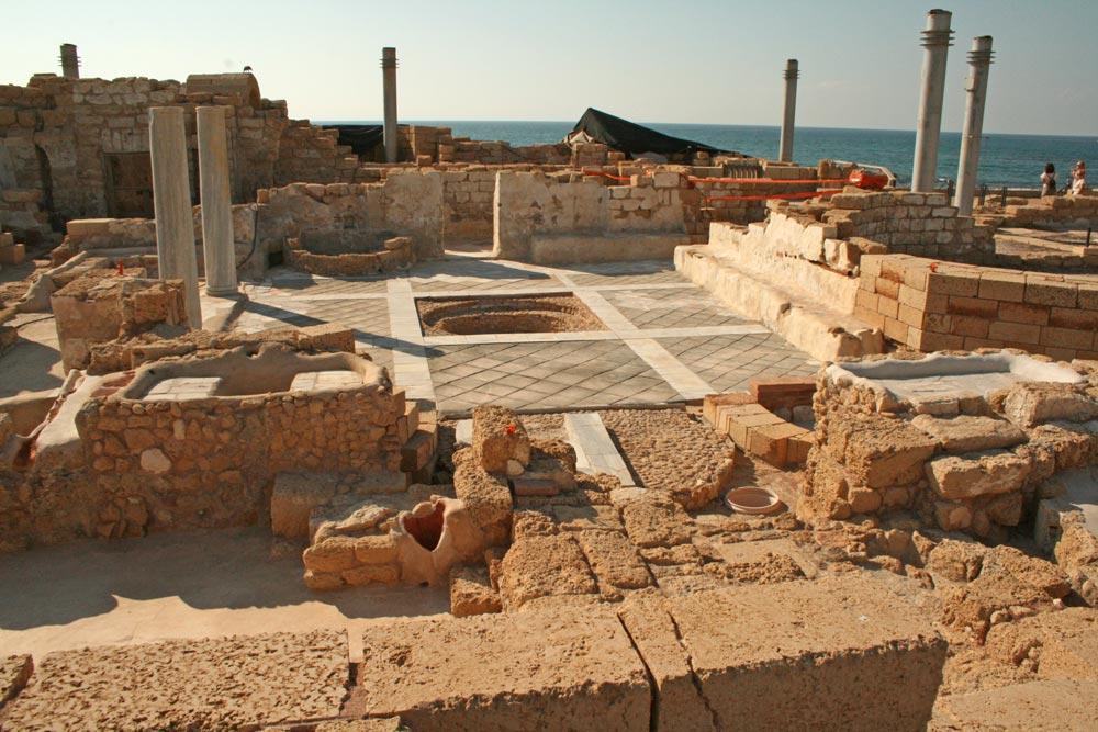 Ausgrabung in Caesarea