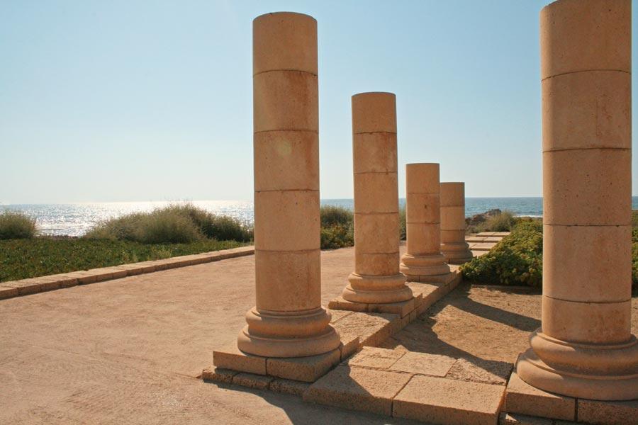 antike Säulen in Caesarea